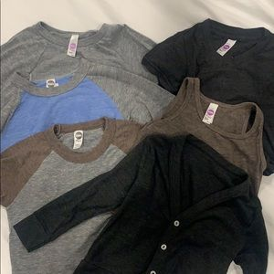 Lot of American Apparel Kids shirts size 2